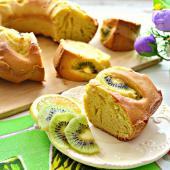 Лимонный кекс с киви