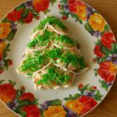 Новогодний салат Елочка