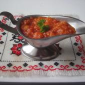 Острый соус с баклажанами
