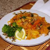 Овощное рагу с картошкой и шампиньонами