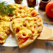 Рыбная пицца с креветками