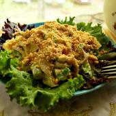 Салат из куриного филе и арахиса