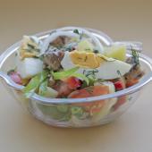 Салат нисуаз с зеленой фасолью