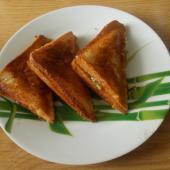 Сендвичи с курицей в бутерброднице