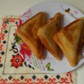 Сеничи с сыром и зеленью
