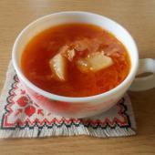 Щи из свежей капусты с томатной пастой