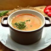 Суп-пюре на мясном бульоне с прованскими травами