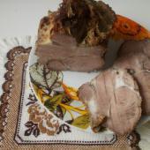 Свиная шея, запеченная в фольге