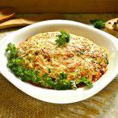 Теплый куриный салат с грибами