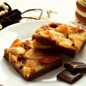 Яблочно-шоколадный манник