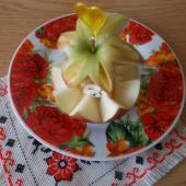 Творожно-яблочный десерт