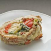 Яичный коблер с мясом и овощами