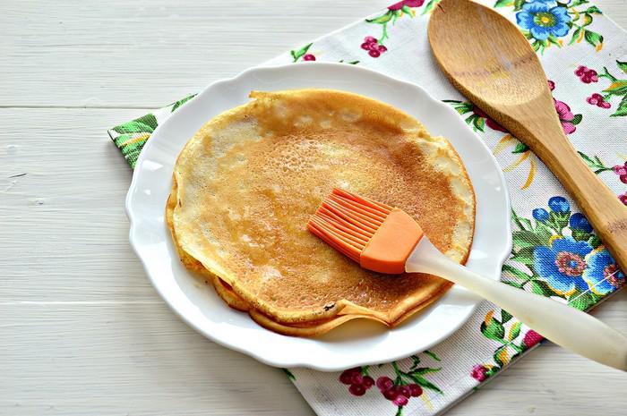Ажурные блины на молоке с кипятком рецепт с фото