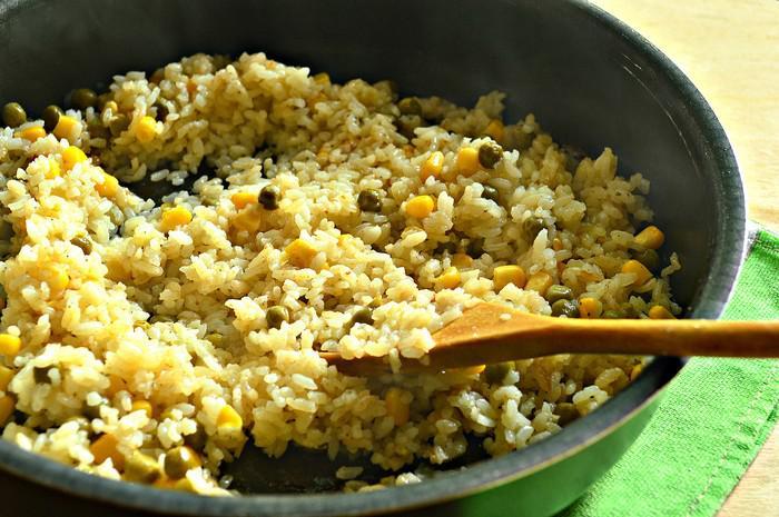 Рис горошком рецепт фото