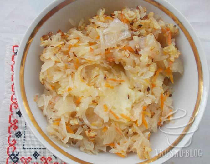 Вареники с картошкой и капустой квашеной